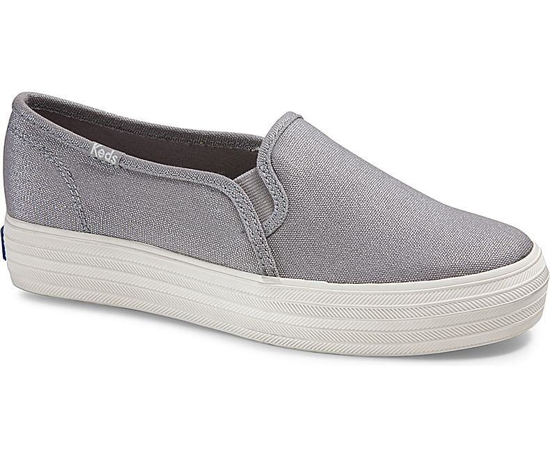 Keds Triple Decker Metallic Canvas Slip on